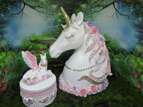 Unicorn Money Bank & Trinket Box Set