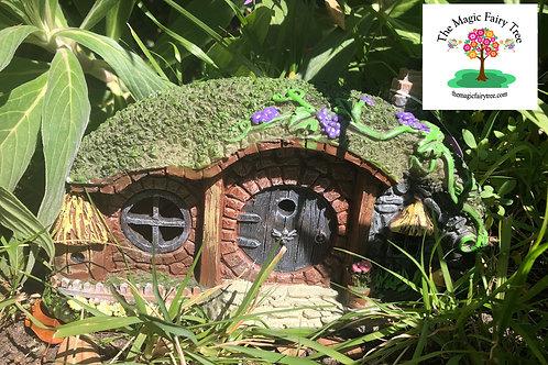 Solar Hobbit Bungalow Fairy House