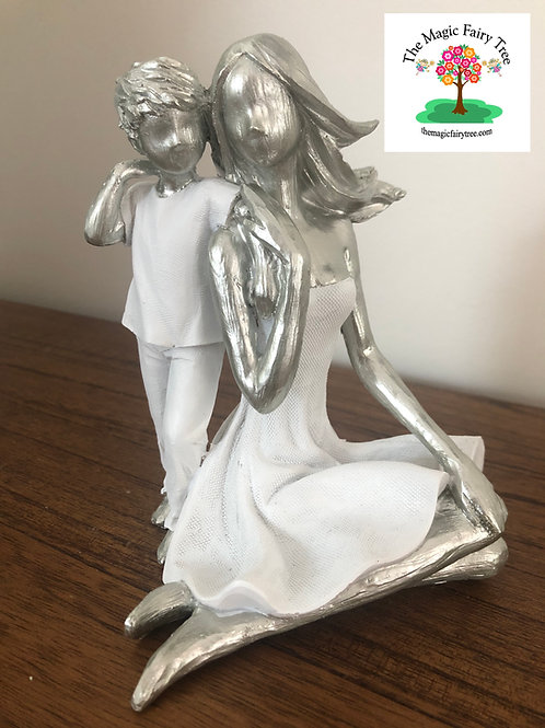 15cm Mother and Son Statue Figurine