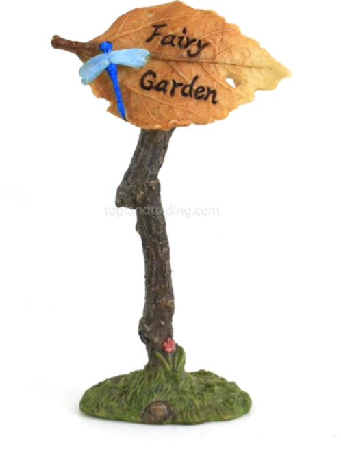 Fairy garden sign - Fairy leaf