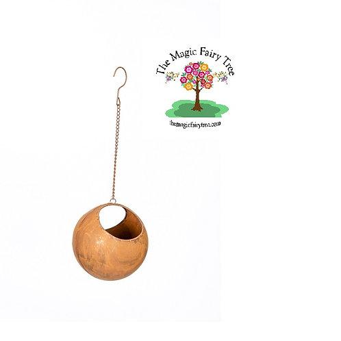 Rust Ball Hanging Planter