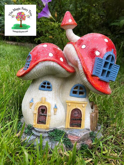 Solar Red Mushroom Fairy House