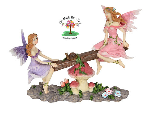 18cm fairies on seesaw