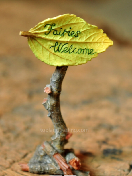 Fairies Welcome - fairy garden sign
