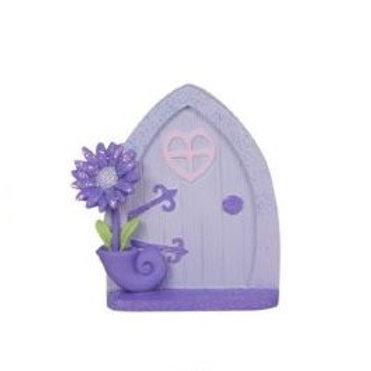 Lilac fairy door - arch - 10cm