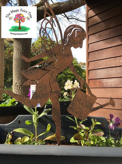 Metal Gardening Fairy Stake
