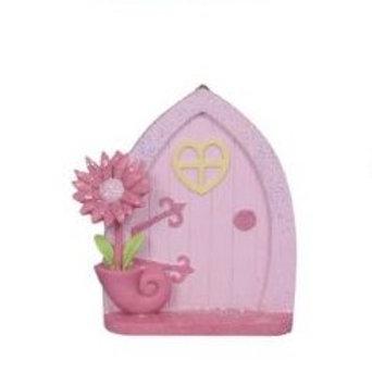 Pink fairy door - arch - 10cm