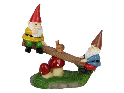 12cm gnomes on a seesaw
