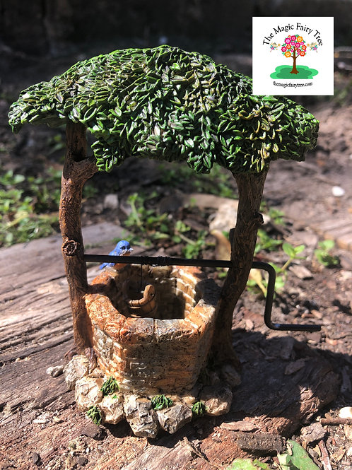 Fairy Garden Wishing Well with Rotating Crank