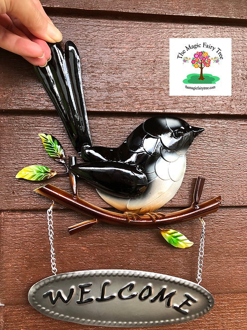 Welcome Willy Wagtail Sign