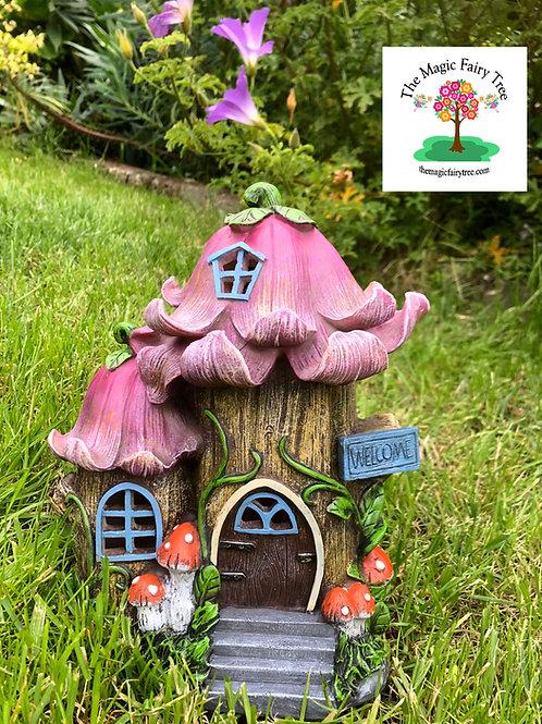 Solar Purple Flower Fairy Tree House