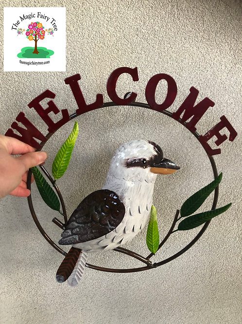 Round Welcome Kookaburra Sign