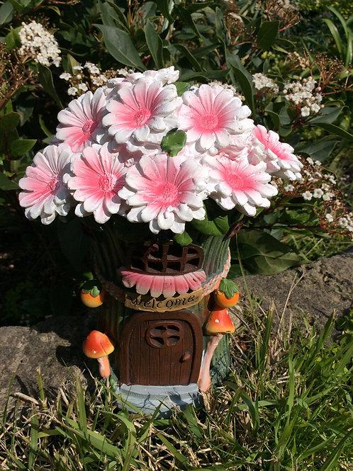 20cm solar flower fairy house - daisy