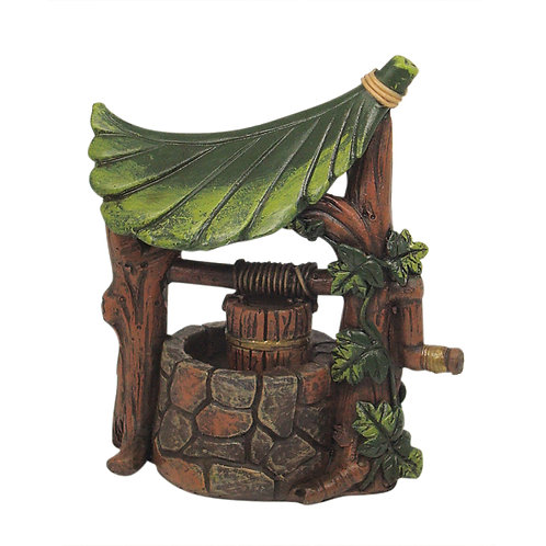 Fairy Garden Leaf Wishing Well
