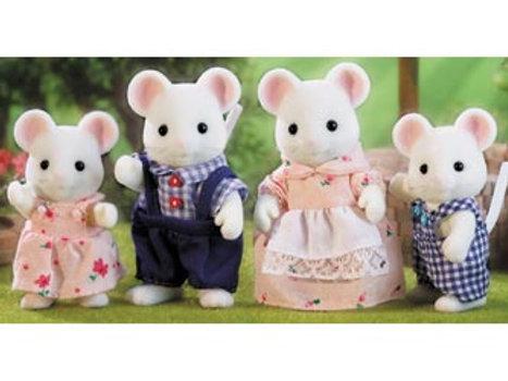 Sylvanian Families - White Mouse Family