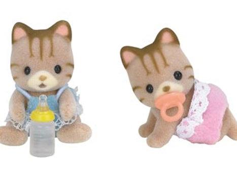 Sylvanian Families - Striped Cat Twins