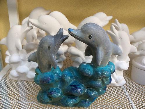 Ready to paint ceramic dolphin pottery