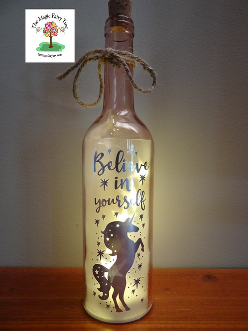 Unicorn wishlight bottle light gift