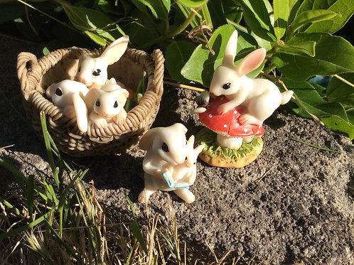 Fairy Garden Rabbit Figurines