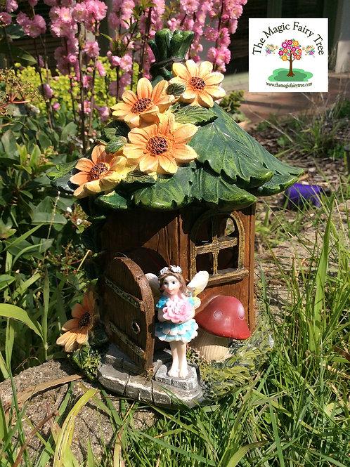 20cm solar fairy figurine house