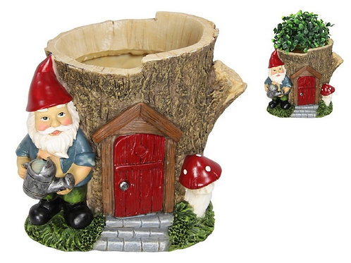 16cm Gnome Tree House Planter
