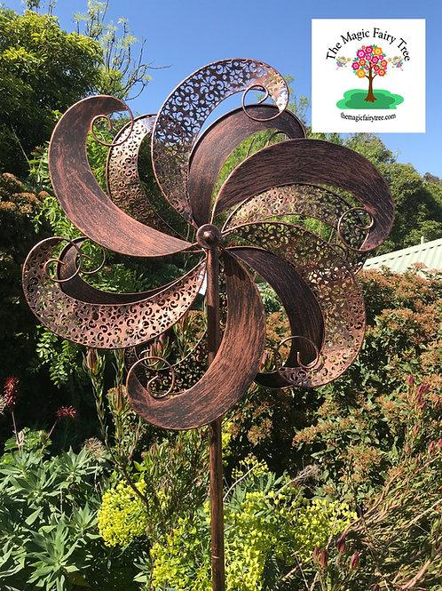 Copper Laced Metal Windmill