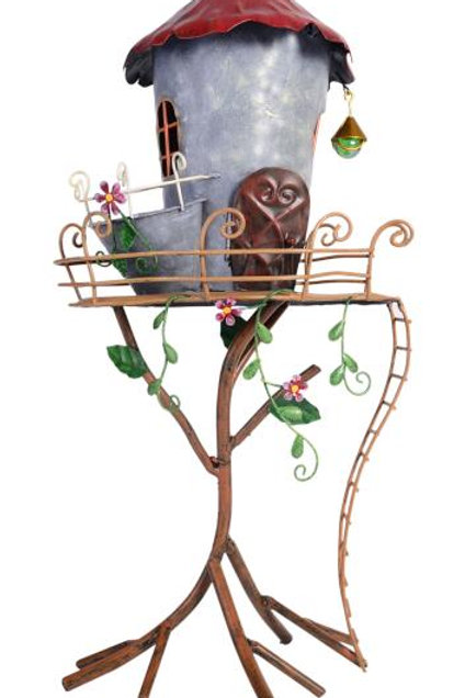 Metal Fancy Fairy House with Pot