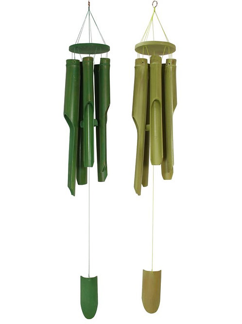Green Bamboo Windchimes
