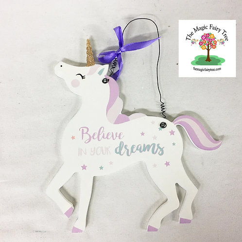 22cm unicorn wall plaque