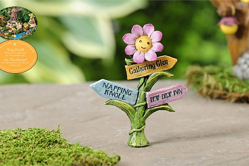 Fairytale Flower Directional Sign