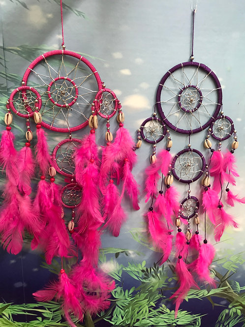 Purple or Pink feather dreamcatcher