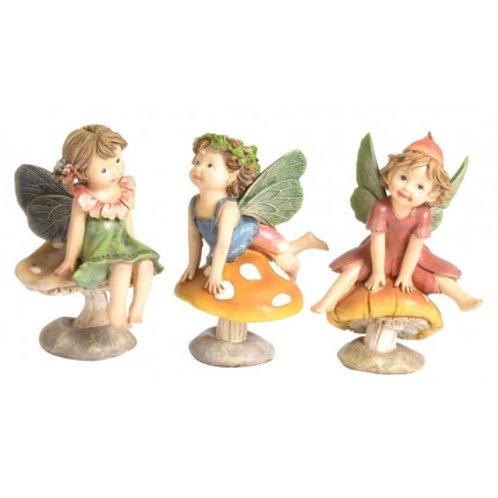 13cm Fairy Kingdom fairy on mushroom figurine