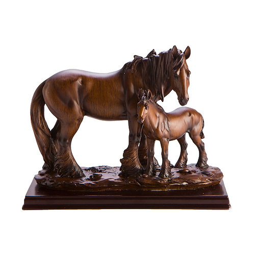 Family Horse figurines - Father and Foal
