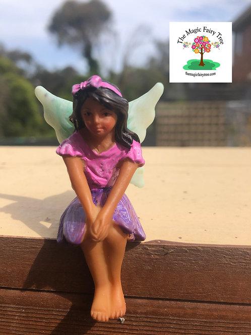Fairy Mia sitting fairy figurine