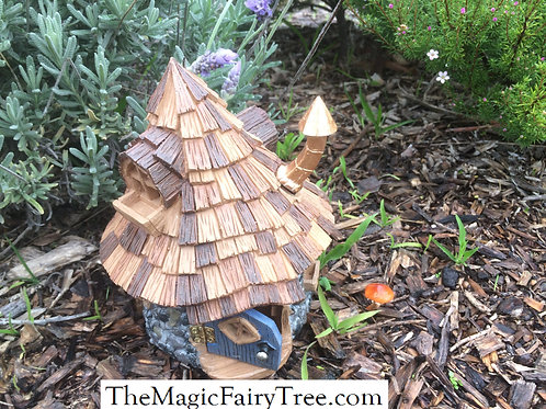 Shingletown cone top fairy or gnome house