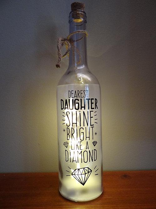 Daughter wishlight bottle light gift