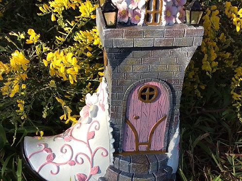 Solar fairy shoe house
