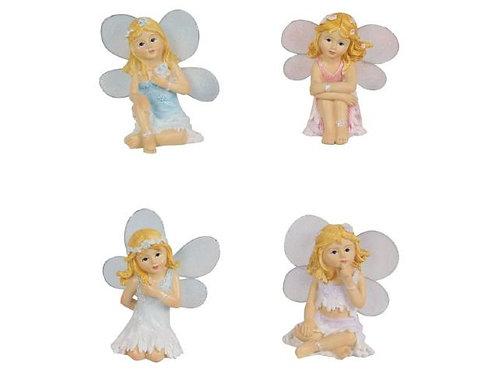 Pastel 7cm sitting fairy