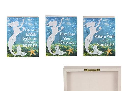 Set of 3 Mermaid Wall Plaques