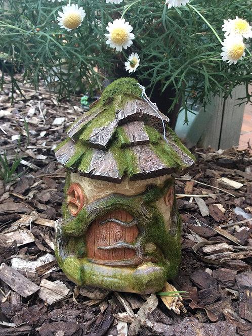 Solar woodland forest fairy house