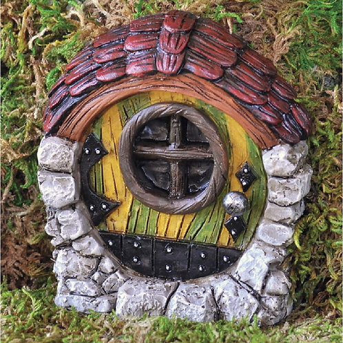 Fiddlehead round striped fairy door