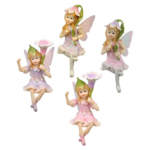 Sitting Flower Fairy - 9cm