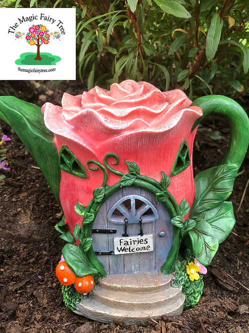 Solar Pink Rose Teapot House