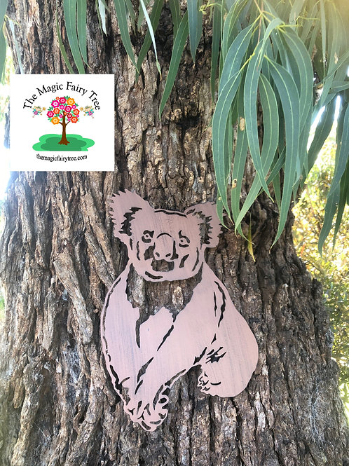 Metal Koala Garden Plaque