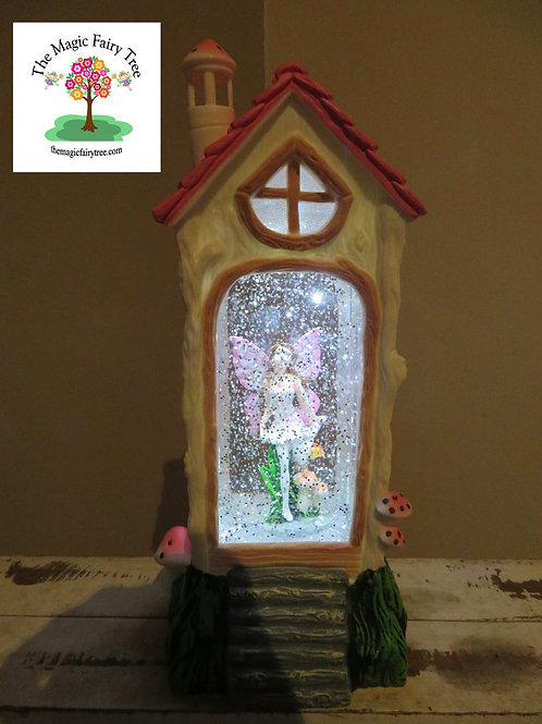 Fairy House Lantern - Pink Fairy Design 2