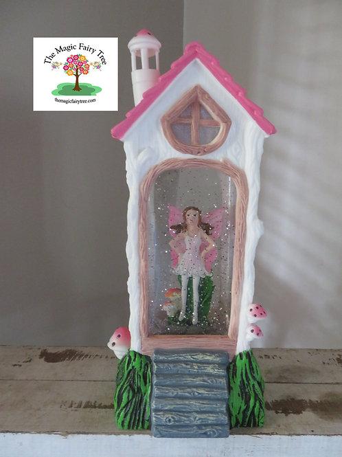 Fairy House Lantern - Pink Fairy Design