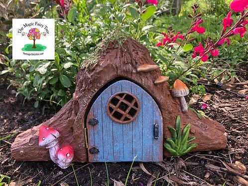Solar Hobbit House with opening door