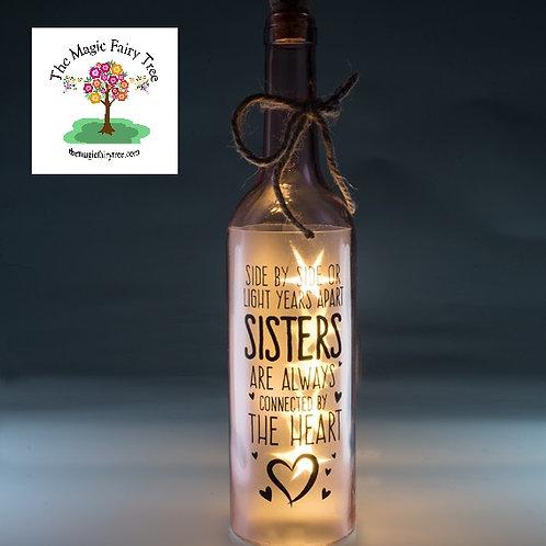 Sister wishlight bottle light gift