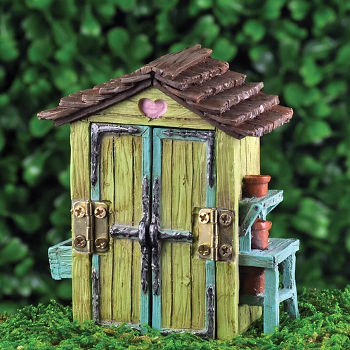 Fiddlehead Miniature Fairy Shed with Opening Doors
