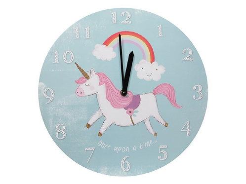 34cm Round Unicorn Wall Clock